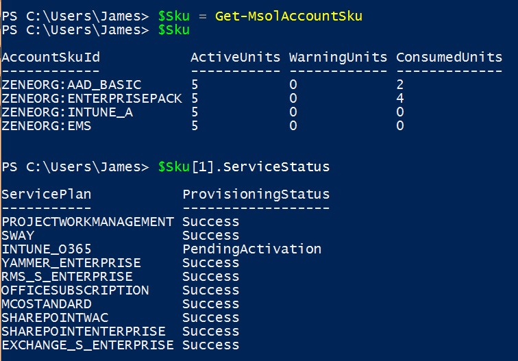 blog ai3 File05 La gestion des licences Office 365 par PowerShell